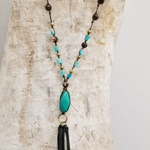 Turquoise Nugget with Peruvian Amazonite